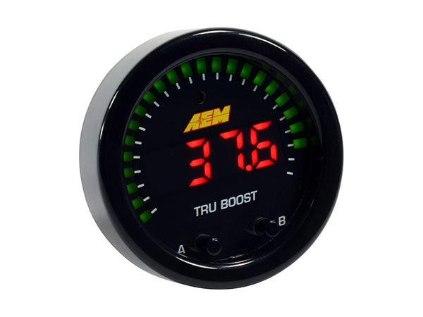 AEM 30-0352 | X-Series Tru-Boost Controller Gauge w/ Boost Control Solenoid 80PSIg Internal MAP Sensor