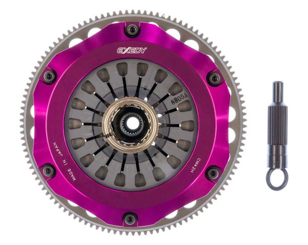 Exedy Racing MM023HBMC1 | Exedy Hyper Triple Carbon-R Clutch Kit MITSUBISHI LANCER L4 2; Rigid Disc; Pull Type; 1997-1998