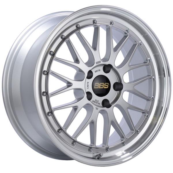 BBS LM256DSPK | LM 20x10 5x120 ET45 Diamond Silver Center Diamond Cut Lip Wheel -82mm PFS/Clip Required