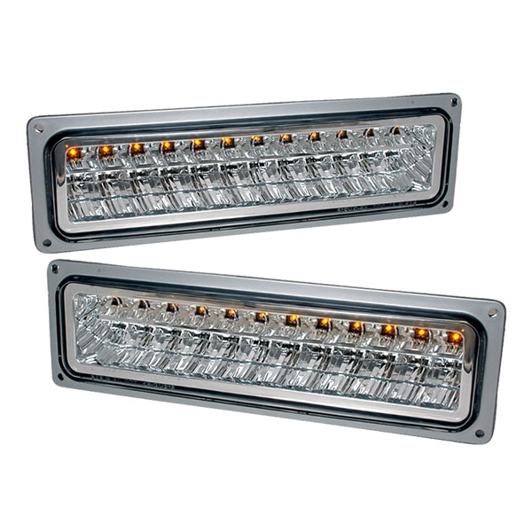 Spec-D Tuning 2LB-C1088CLED-KS: Spec-D 88-98 C10 Led Bumper Lights- Chrome (2lb-C1088cled-Ks)