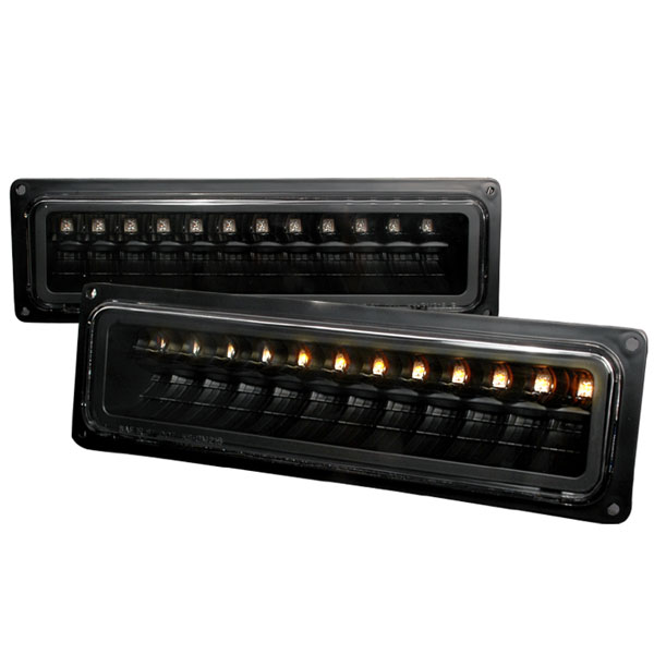 Spec-D Tuning 2LB-C1088JMLED-KS: Spec-D 88-98 C10 Led Bumper Lights- Black (2lb-c1088jmled-ks)