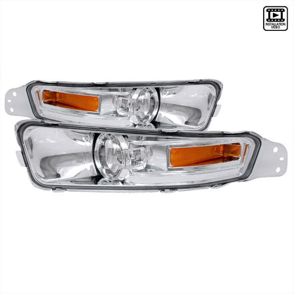 Spec-D Tuning 2LB-MST05-TM: Spec-D 05-09 Ford Mustang Signal Bumper Lights (2lb-mst05-tm) V8
