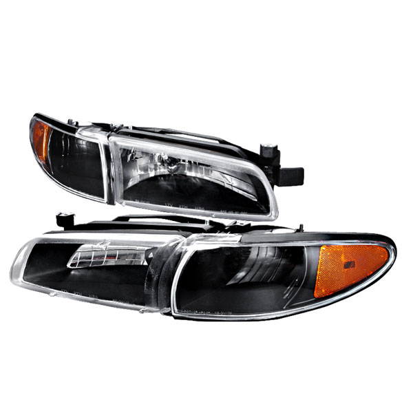 Spec-D Tuning 2LCLH-GPX97JM-KS | Spec-D Pontiac Grand Prix Headlights - Black; 1997-2003