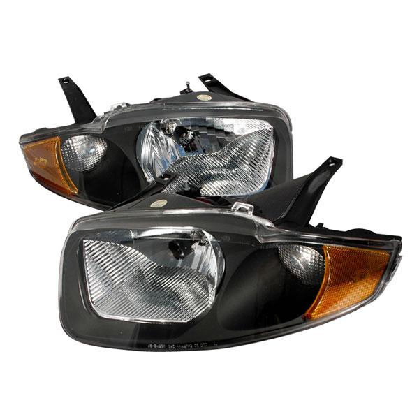 Spec-D Tuning 2LH-CAV03JM-KS | Spec-D Cavalier Headlights Black; 2003-2005