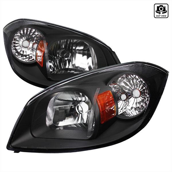 Spec-D Tuning 2LH-COB05JM-RS | Chevrolet Cobalt Black Euro Headlights; 2005-2010