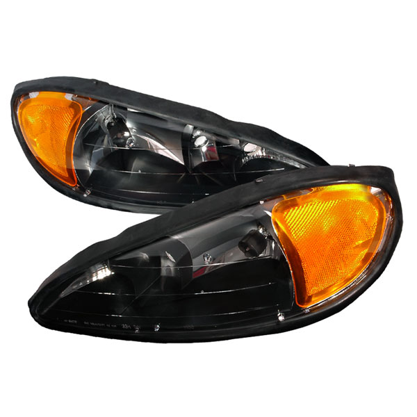Spec-D Tuning 2LH-GAM99JM-KS: Spec-D 99-05 Pontiac Grand Am Headlights Black