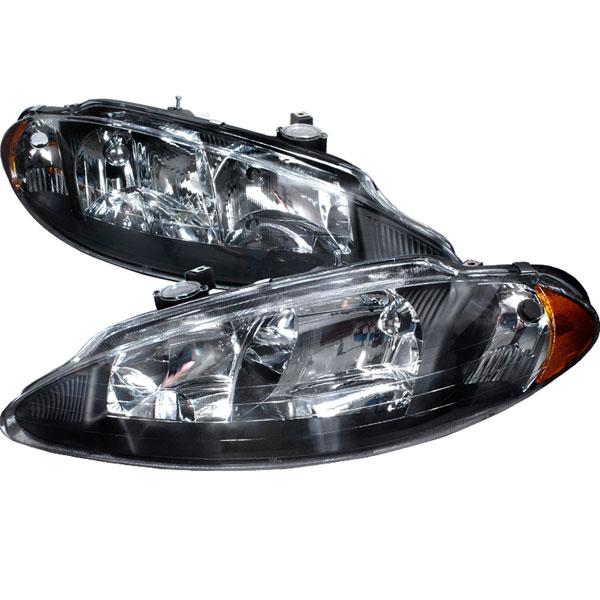 Spec-D Tuning 2LH-ITRE98JM-KS | Spec-D Dodge Intrepid Headlights - Black; 1998-2004