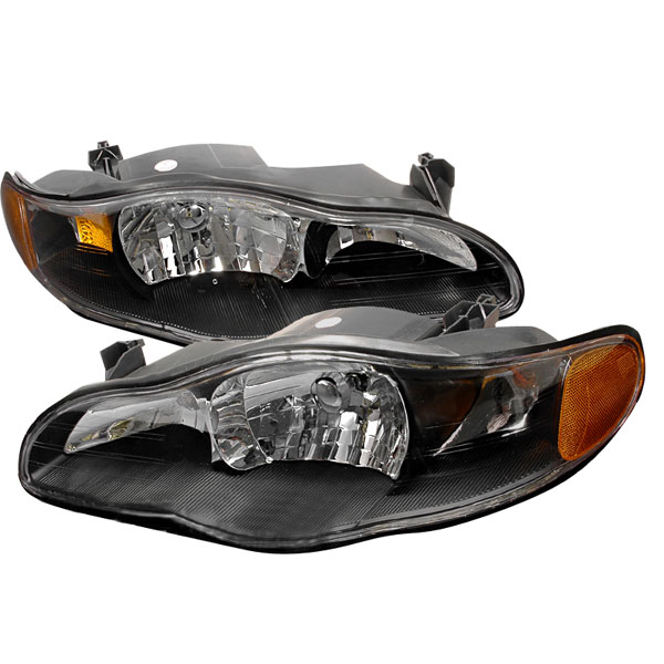 Spec-D Tuning 2LH-MONT00JM-KS | Spec-D Monte Carlo Headlights - Black; 2000-2005