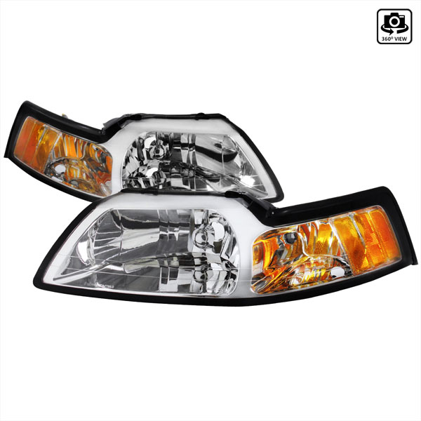 Spec-D Tuning 2LH-MST99-RS: Spec-D 99-04 Ford Mustang Headlight V8