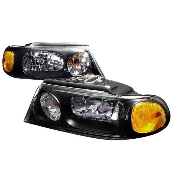 Spec-D Tuning 2LH-NAV98JM-KS: Spec-D 98-02 Lincoln Navigator Headlights - Black
