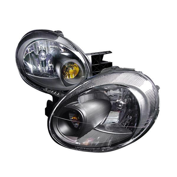 Spec-D Tuning 2LH-NEO03JM-KS | Spec-D 03-05 Dodge Neon Black Headlights - Black