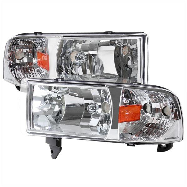 Crystal Housing Led Spec-D Tuning 2LH-RAM94-RS Chrome Headlight