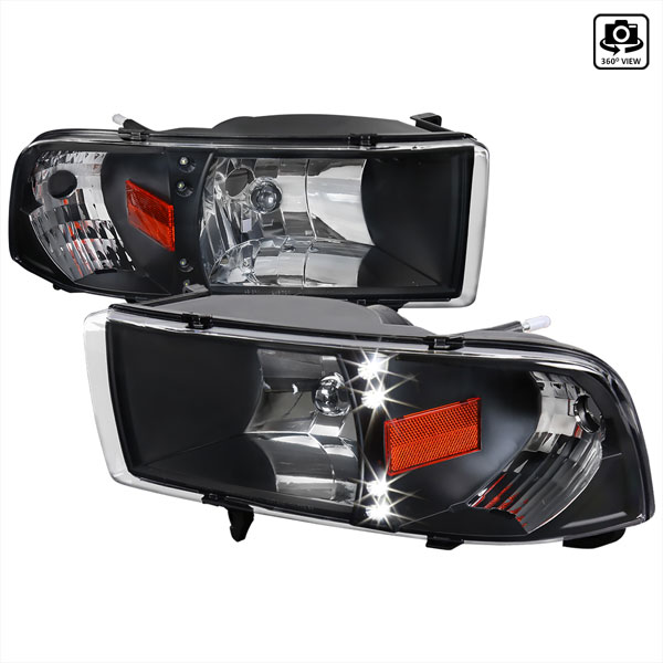 Spec-D Tuning 2LH-RAM94JM-RS: Spec-D 94-01 Dodge Ram 1pc Headlights
