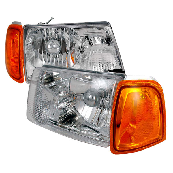 Spec-D Tuning 2LH-RAN01-KS   Spec-D Ford Ranger Headlights +corner Chrome; 2001-2004