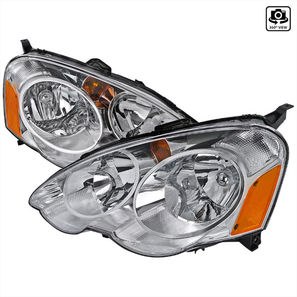 Spec-D Tuning (2LH-RSX02-RS)  Acura Rsx 02-04 Acura Rsx Headlights Chrome, 02-04