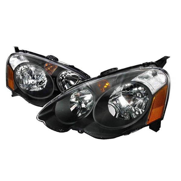 Spec-D Tuning 2LH-RSX02JM-DP | Spec-D Acura Rsx Headlights Black; 2002-2005