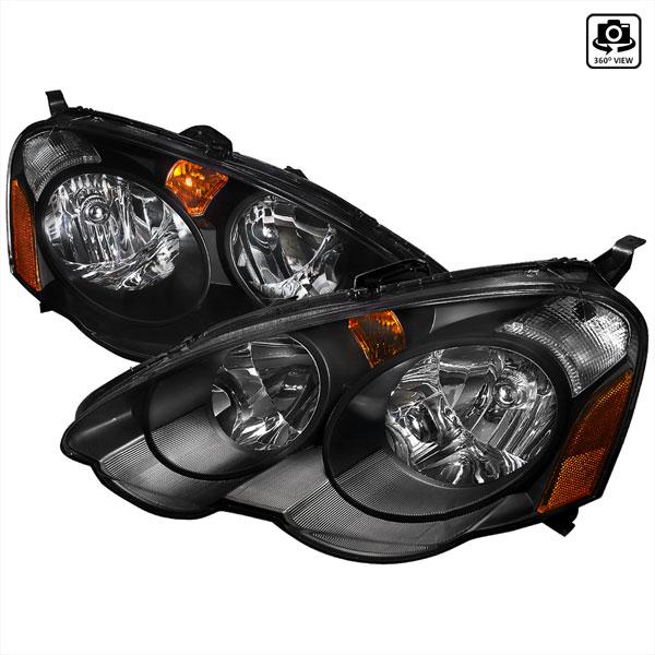 Spec-D Tuning 2LH-RSX02JM-RS |  Acura Rsx Acura Rsx Headlights Black; 2002-2004
