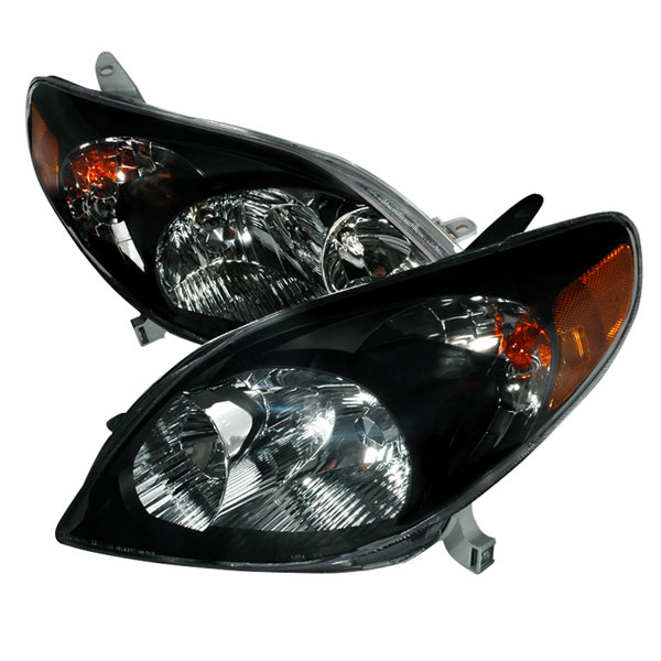Spec-D Tuning 2LH-TRIX03JM-KS | Spec-D Toyota Matrix Headlights Black; 2003-2004