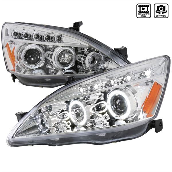 Spec-D Tuning 2LHP-ACD03-TM | Spec-D Honda Accord Projector Headlights; 2003-2010