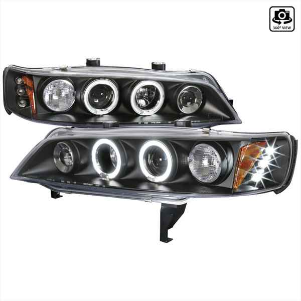 Spec-D Tuning 2LHP-ACD94JM-TM: Spec-D 94-97 Honda Accord Halo Led Projector