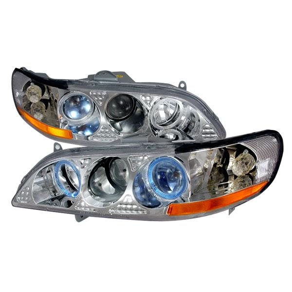 Spec-D Tuning 2LHP-ACD98V1-KS | Spec-D Honda Accord Projector Headlights; 1998-2002