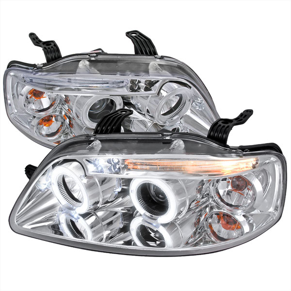 Spec-D Tuning 2LHP-AVE045-TM | Spec-D Aveo 5dr Projector Headlights; 2004-2008