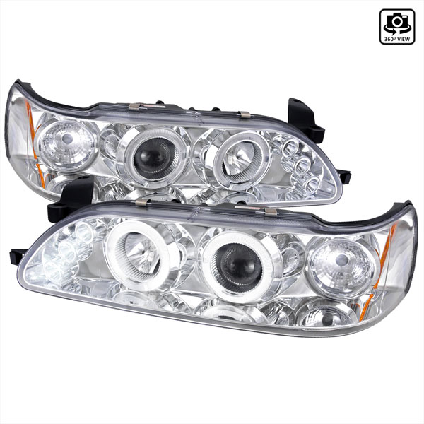 Spec-D Tuning 2LHP-COR93-TM: Spec-D 93-97 Toyota Corolla Projector Headlights