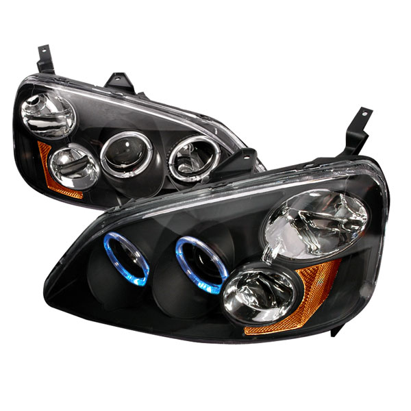 Spec-D Tuning 2LHP-CV01JM-KS: Spec-D 01-03 Honda Civic Dual halo Projector