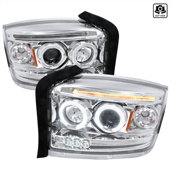 Spec-D Tuning 2LHP-DAK05-TM: Spec-D 05-07 Dodge Dakota Projector Headlights