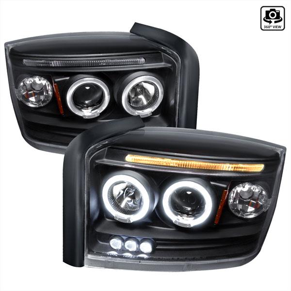 Spec-D Tuning 2LHP-DAK05JM-TM   Spec-D Dodge Dakota Projector Headlights; 2005-2007