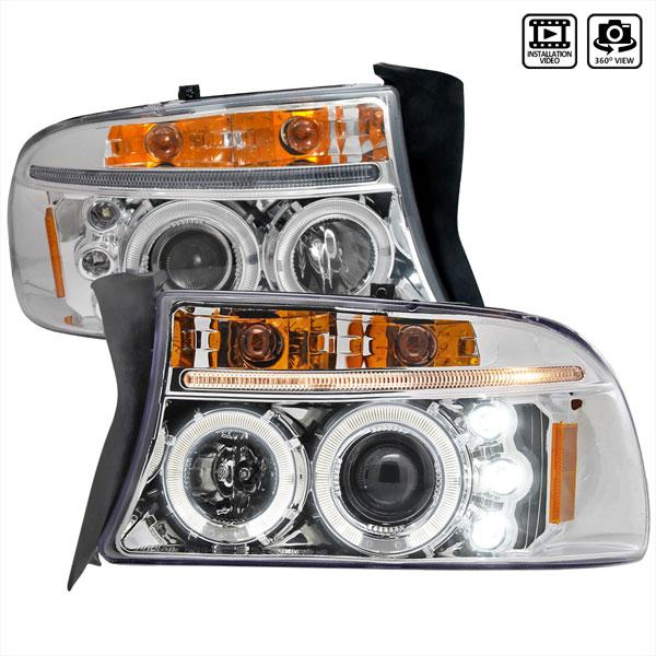 Spec-D Tuning 2LHP-DAK97-TM | Spec-D 97-01 Dodge Dakota Projector Headlights
