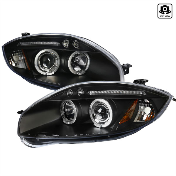 Spec-D Tuning 2LHP-ELP06JM-TM: Spec-D 06-08 Eclipse Projector Headlights Led