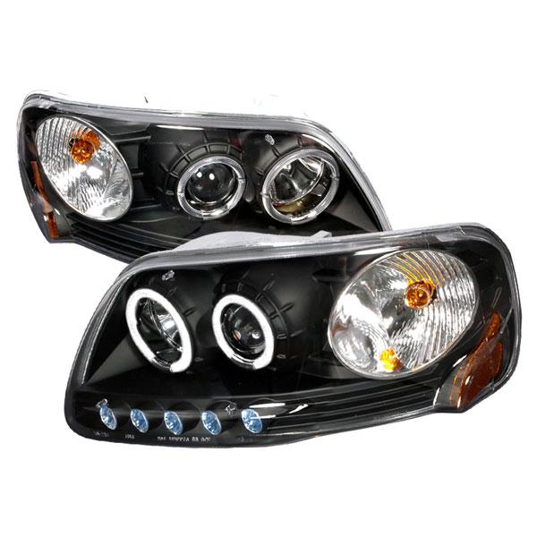 Spec-D Tuning 2LHP-F150971PCJM-KS | Spec-D Ford F-150 1pc Projector Headlights; 1997-2003