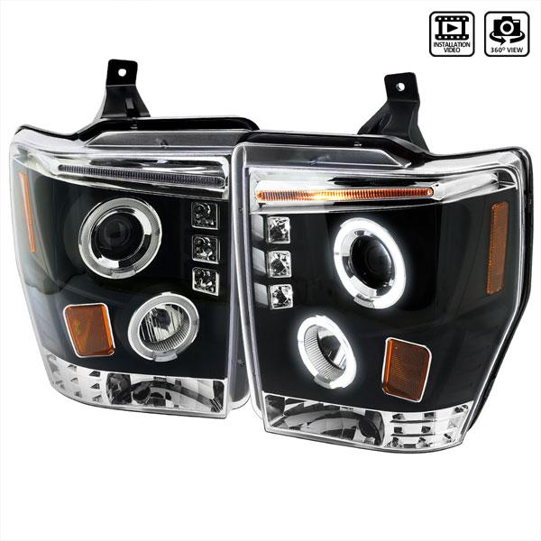 Spec-D Tuning 2LHP-F25008JM-TM | Spec-D Ford F250,Superduty Projector; 2008-2010