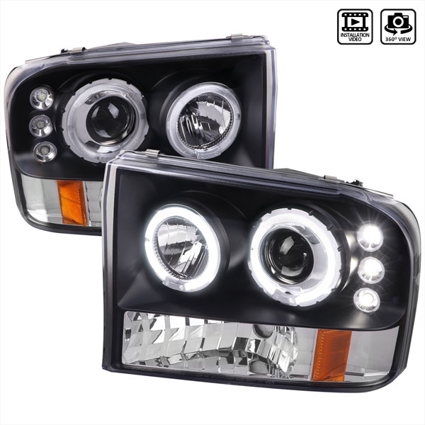 Spec-D Tuning 2LHP-F25099JM-TM: Spec-D 99-04 Ford F250 Projector Headlight Led