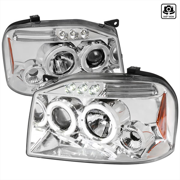 Spec-D Tuning 2LHP-FRO01-TM: Spec-D 01-04 Frontier Projector Headlights Led