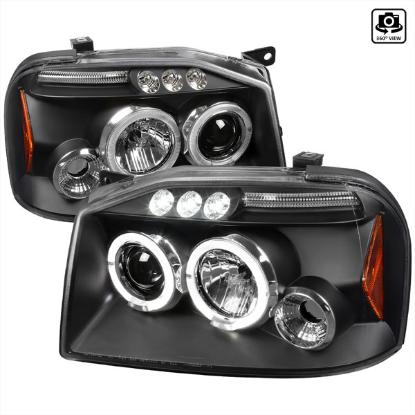 Spec-D Tuning 2LHP-FRO01JM-TM | Spec-D Frontier Projector Headlights Led; 2001-2004