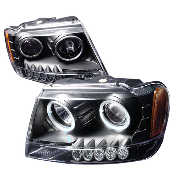 Spec-D Tuning (2LHP-GKEE99JM-KS) Spec-D 99-04 Grand Cherokee Projector Headlights