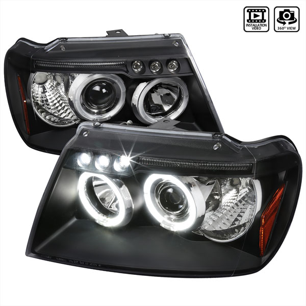Spec-D Tuning 2LHP-GKEE99JM-TM: Spec-D 99-04 Grand Cherokee Projector Headlights