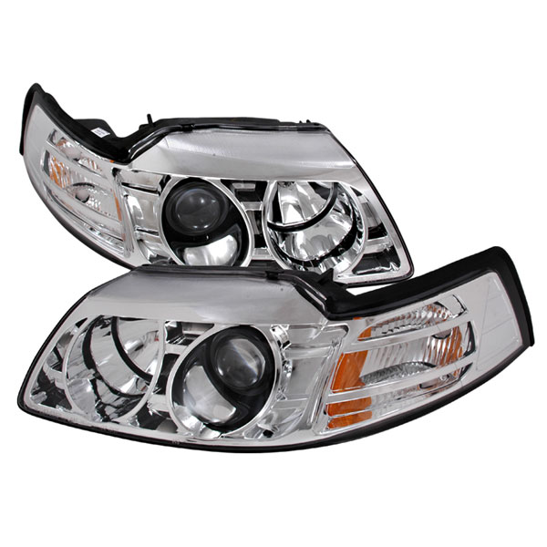 Spec-D Tuning 2LHP-MST99-KS: Spec-D 99-04 Ford Mustang Projector Headlights V6