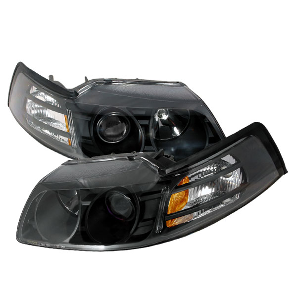 Spec-D Tuning 2LHP-MST99JM-KS | Spec-D Ford Mustang Projector Headlights V6; 1999-2004
