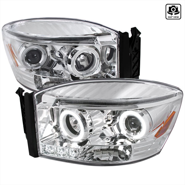 Spec-D Tuning 2LHP-RAM06-TM: Spec-D 06-up Dodge Ram Projector Headlights