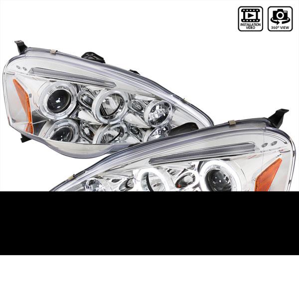 Spec-D Tuning 2LHP-RSX02-TM | Spec-D Acura Rsx Projectors Headlights; 2002-2004