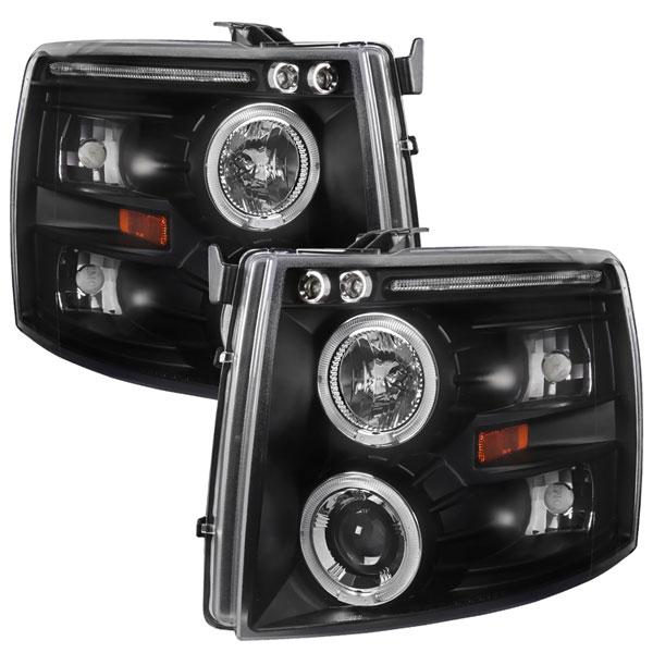 Spec-D Tuning 2LHP-SIV07JM-TM | Spec-D Silverado Halo Projector; 2007-2010