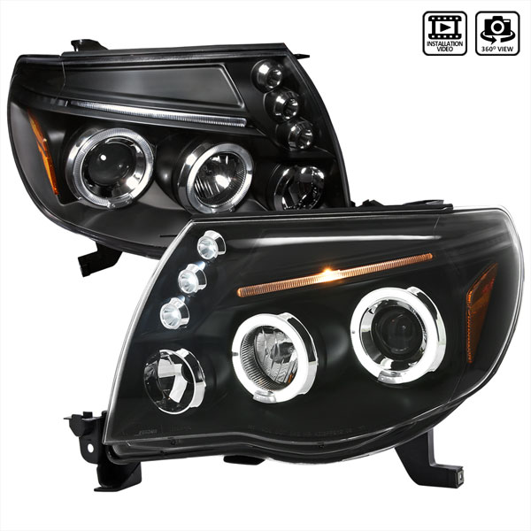 Spec-D Tuning 2LHP-TAC06JM-TM: Spec-D 05-07 Toyota Tacoma Halo Led Projector