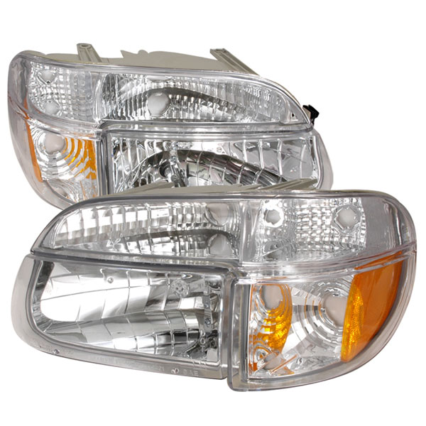 Spec-D Tuning 2LPLH-EPOR95-KS: Spec-D 95-01 Ford Explorer Headlights+corner - Chrome