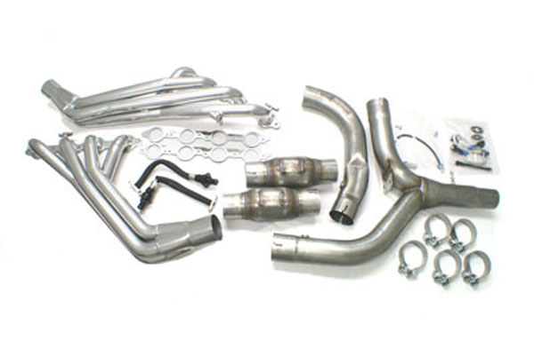 SLP 30048:  Header Package, 1-3/4 Long Tube 2001-02 Firebird w/Y-Pipe/Cats/ Install Kit V8