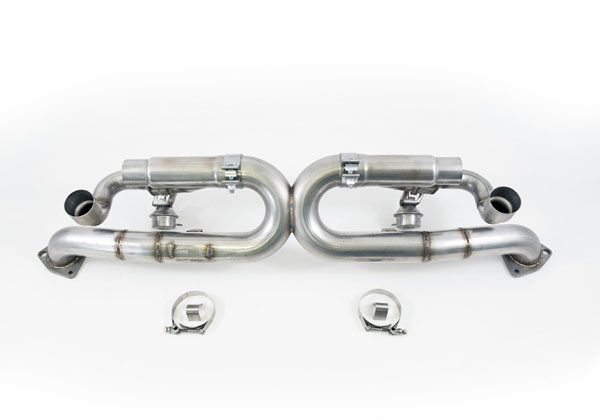 AWE Tuning 3025-42010 |  991 Carrera SwitchPath Exhaust (for PSE equipped Carreras) (Chrome Silver Tips); 2012-2016