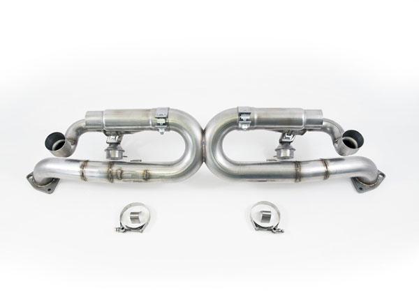 AWE Tuning (3025-43014)  991 Carrera SwitchPath Exhaust (non-PSE equipped Carreras) (Diamond Black Tips)