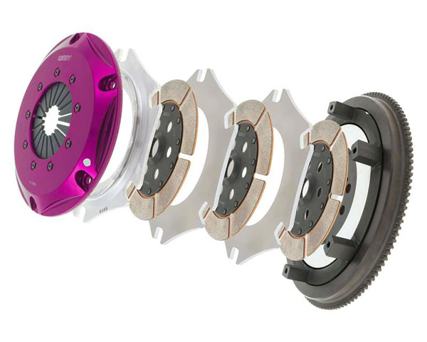 Exedy Racing NM033HRWH | Exedy Hyper Triple Cerametallic Clutch Kit NISSAN SKYLINE L6 2.5; From 5/89 Prod. Date; Rigid Disc; Pull Type; 1995-1998